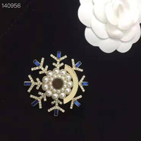 New Styles For Choose Full Pearl Flower Snowflake Brooches For Women Fashion Wedding Bouquet Brooch Dress Pin Gift