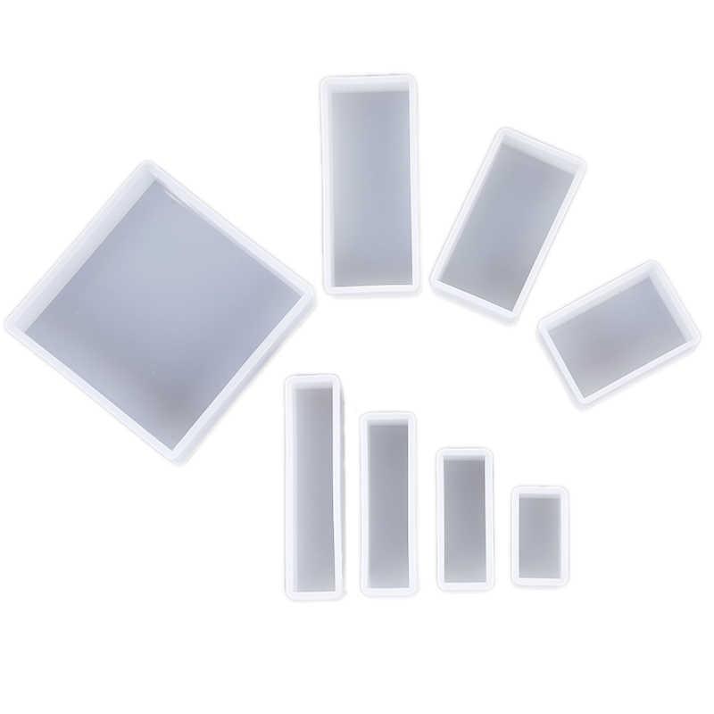 מלבן שקוף סיליקון עובש עבור תכשיטי ביצוע כלי תבניות UV אפוקסי שרף דקורטיבי קרפט
