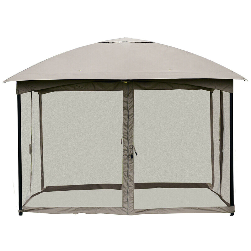11.5FT Patio Gazebo Tent Wedding Party Awning Mosquito Netting Canopy OP3600