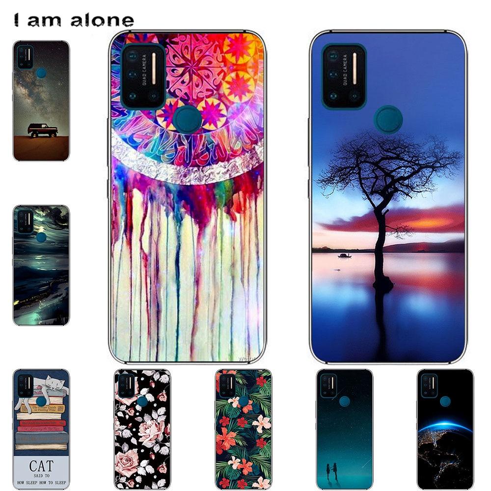 I am alone Phone Case For UMI Umidigi A5 Pro A7 Pro F1 F1 Play F2 Bags Fashion Color Cartoon Printed Paint Mobile
