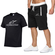 2020 mode t-shirt Shorts Set Männer Sommer 2pc Trainingsanzug + Shorts Sets Strand Herren Casual Tee Shirts Set Sportkleidungen(China)