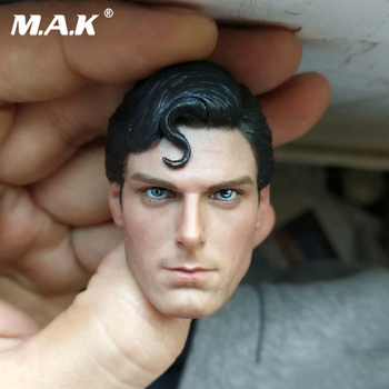 цена на 1:6 Scale Classic Superman Head Carved 1:6 Scale Christopher Reeve Sculpt Action Figure Head Model