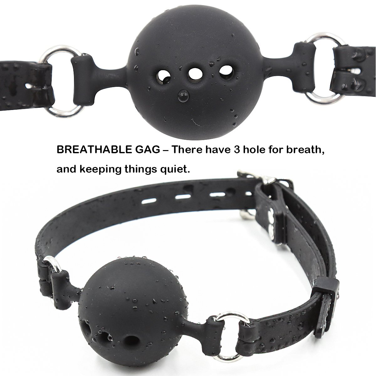 US Faux Leather Breathable Ball Gag Mouth Restraint Harness Bondage Gag S/&M Toys