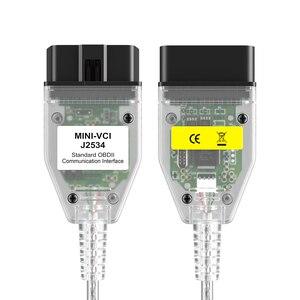 Image 2 - MINI interfaz VCI compatible con TOYOTA TIS Techstream J2534 OBD2, Cable de conexión de diagnóstico OBD de 22 pines a 16 Pines, V13.00.022