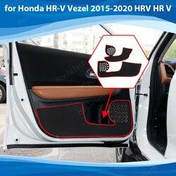 Side edge cover Door Inside Guard Protection Carpet Car Door Anti Kick Pad Sticker for Honda HR-V 2015-2020 HRV HR V Accessories