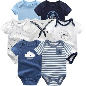 Image 4 - En kaliteli 7 adet/grup bebek erkek kız elbise 2020 moda ropa bebe çocuk giyim yenidoğan tulum genel bebek kız tulum