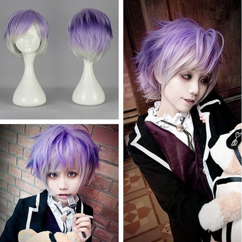 Fashion Synthetic 32cm Men Hairstyle Diabolik Lovers Kanato Sakamaki Cosplay Anime Wig