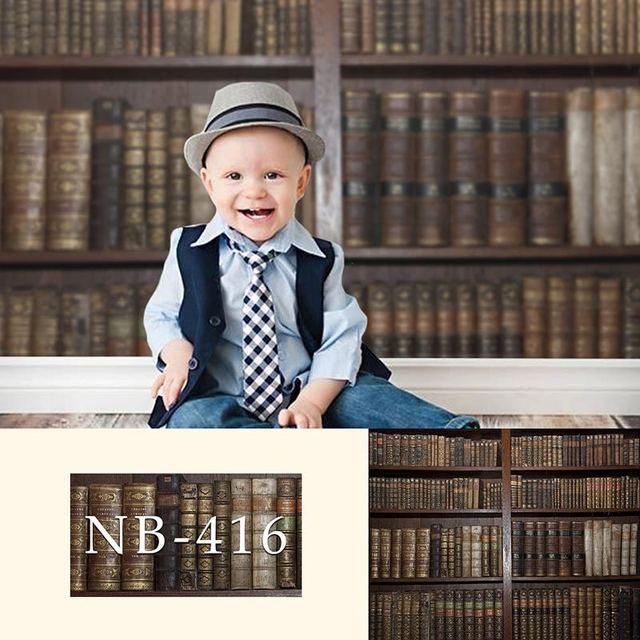 خلفية لتصوير الأطفال حديثي الولادة كتب عتيقة أرفف كتب خشبية خلفية لاستوديو الصور تصميم جديد كاميرا صور