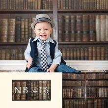 Fotografowania noworodków tło rocznika książki drewniane półki tło dla zdjęć studio nowy projekt aparatu fotografica