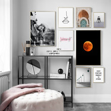 Line Girl Moon Morocco Door Forest Quotes Nordic Posters And Prints Wall Art Canvas Painting Wall Pictures for Living Room Decor