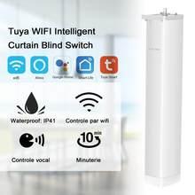 Tuya wi fi inteligente cortina elétrica do motor automático motorizado cortina de status faixa cronometragem app controle remoto para alexa google casa