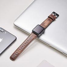 Ремешок кожаный для apple watch band series 6 se 5 4 3 38 мм