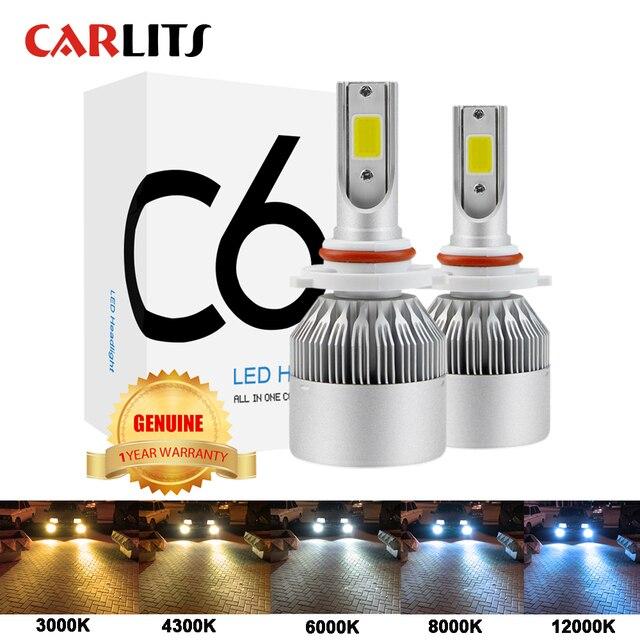 Lâmpadas led para luzes de carro, recém chegadas h4 h7 9003 hb2 h11 led h1 h3 h8 h9 880 9005 9006 h13 faróis automotivos, 9004 9007, 12v