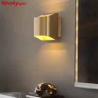 LED Wall Lamp copper kitchen Mirror Light Living Room Wall Sconce Wall Deco Lighting study Modern brass Wall Lamps bed room