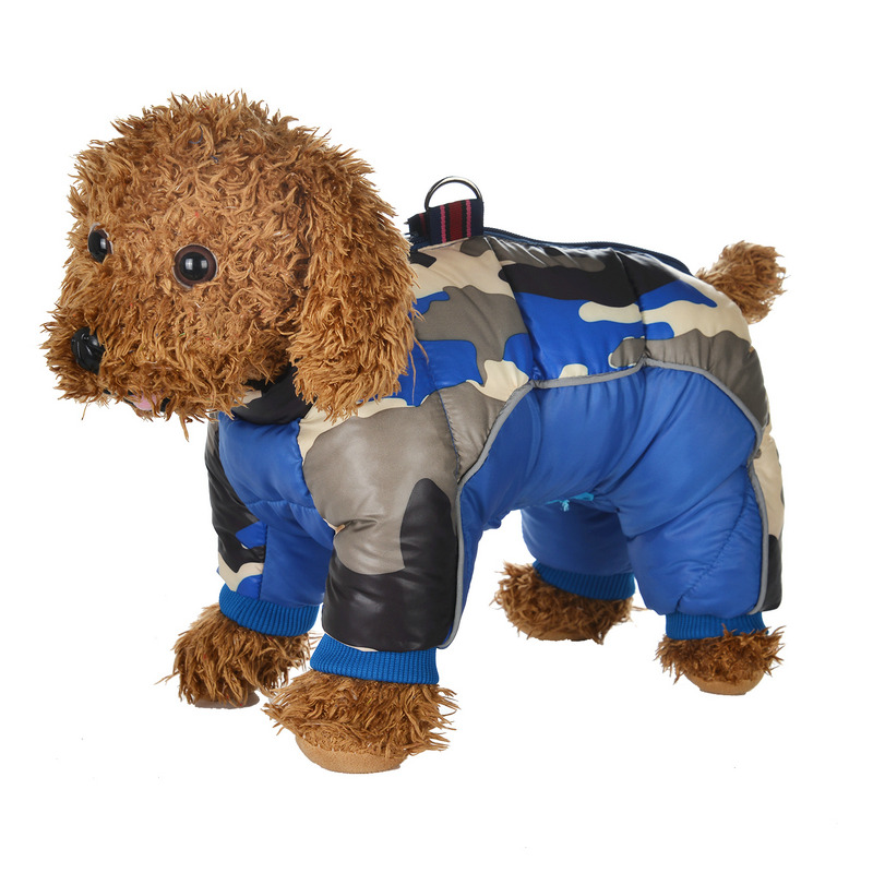 Reflective and Warm Dog Jacket and Waterproof Winter Dog Clothing with Strong Zipper and D-Ring 30