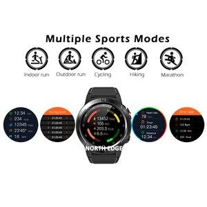 Image 3 - نظام تحديد المواقع ساعة ذكية رجالي ساعة رقمية معدل ضربات القلب الارتفاع بارومتر البوصلة Smartwatch الرجال تشغيل جهاز مراقبة اللياقة الرياضية نورث ايدج