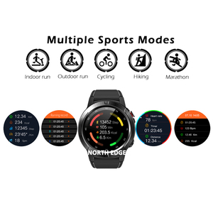 Image 3 - GPS Smart Watch Mens Digital Watch Heart Rate Altitude Barometer Compass Smartwatch Men Running Sport Fitness Tracker NORTH EDGE