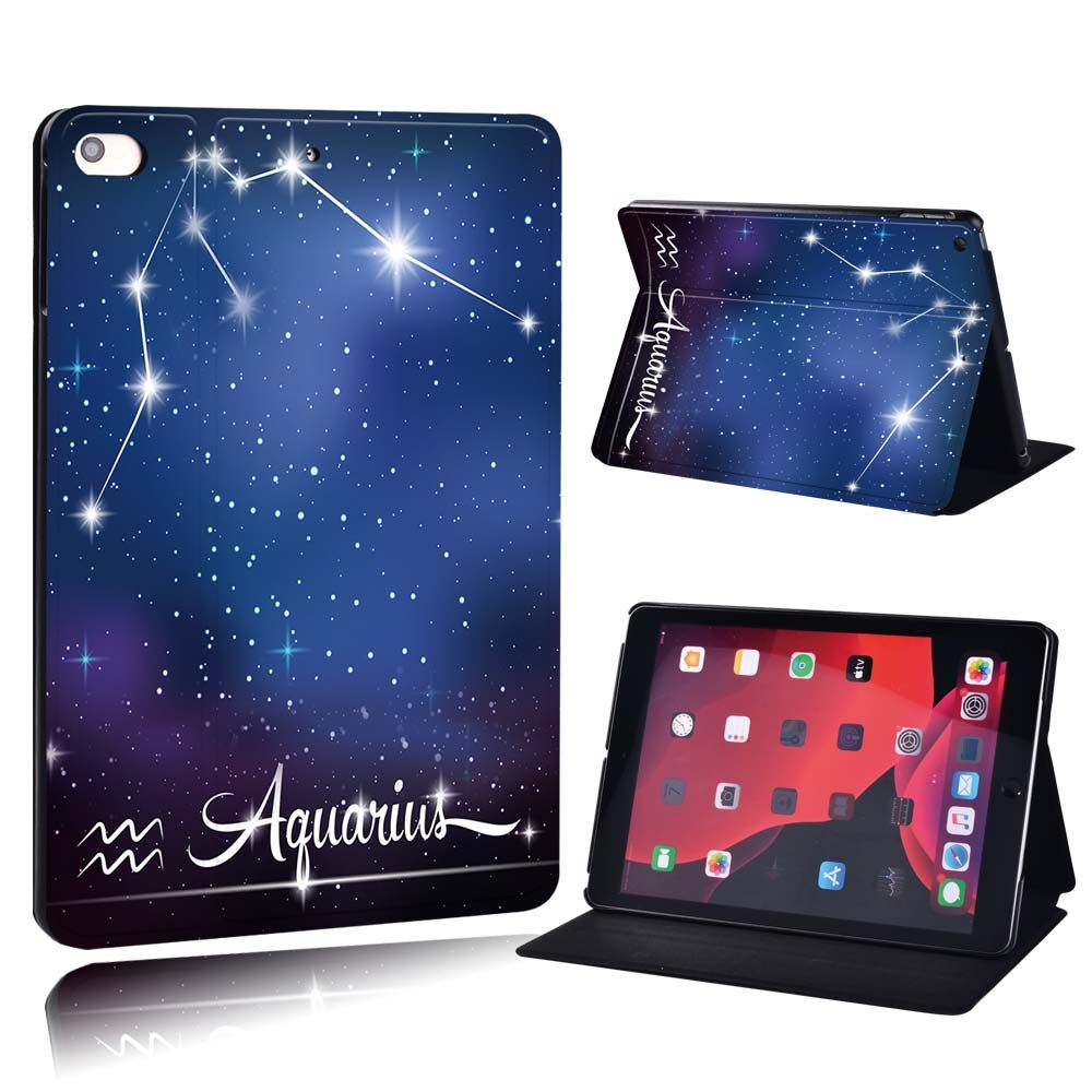 star sign - Capricom Gold For Apple iPad 8 10 2 2020 8th 8 Generation A2428 A2429 PU Printed Star Sign
