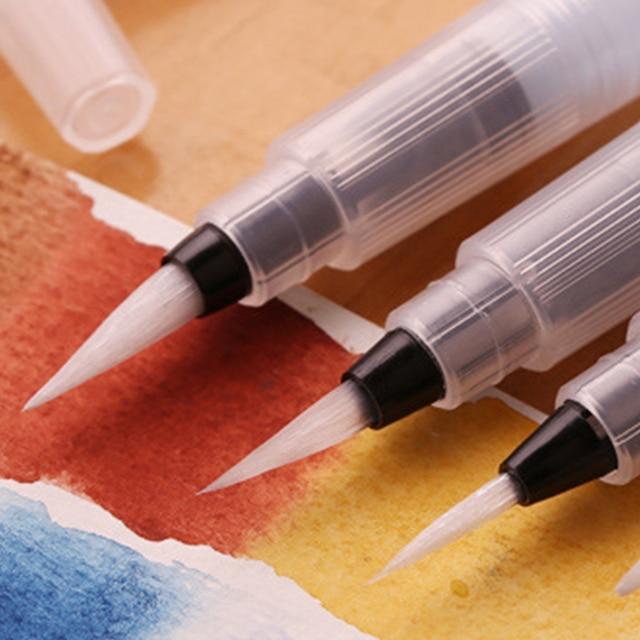 3 morceaux Marqueurs de pinceau portables peinture pinceau aquarelle pinceau aquarelle doux stylo police artistique étudiants papeterie 4