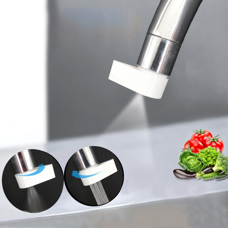 Kitchen Sink Faucet Aerator 2 Modes Adjustable Water Filter Diffuser Water Saving Nozzle Faucet Bubble Connector Shower