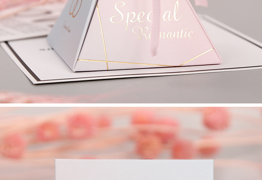 Triangular Pyramid Marble Candy Box Wedding Favors and Gifts Boxes Chocolate Box for Guests Giveaways Boxes Party Supplies-35