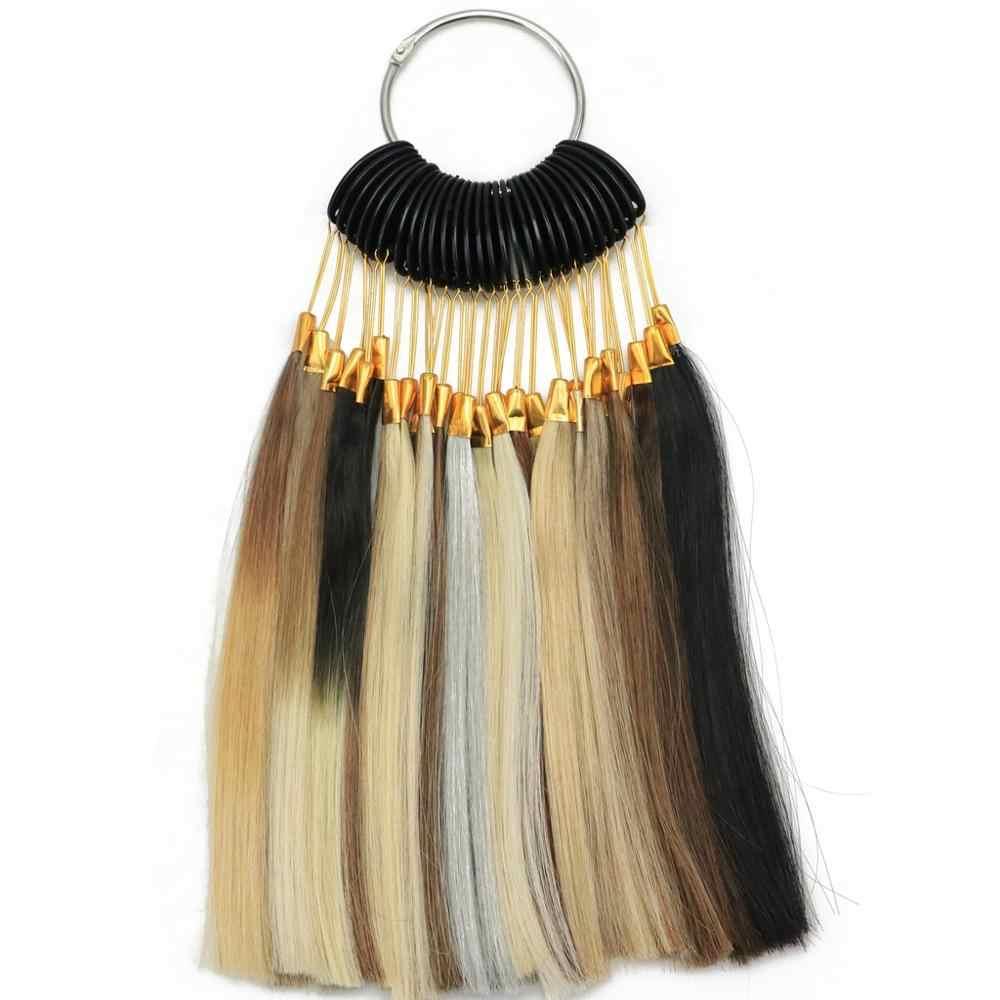MRSHAIR Farbe Ringe Remy Haar Farben 27 Farben Erhältlich 100% Echt Remy Menschenhaar Schwarz Braun Blonde Rot Rosa Lila blau Burg