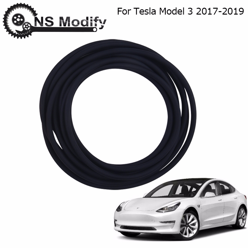 NS Modify 285cm Lowering Reduction Seal Kit Windshield & Roof Wind Seal Weatherproof Durable Reflect For Tesla Model 3 2017-2019