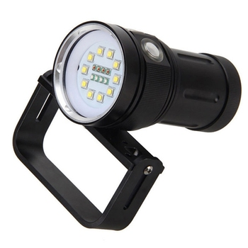 AMS-Scuba Diving Underwater 100M XM-L2 LED Video Camera Photography Light Torch Flashlight (Torch Only)