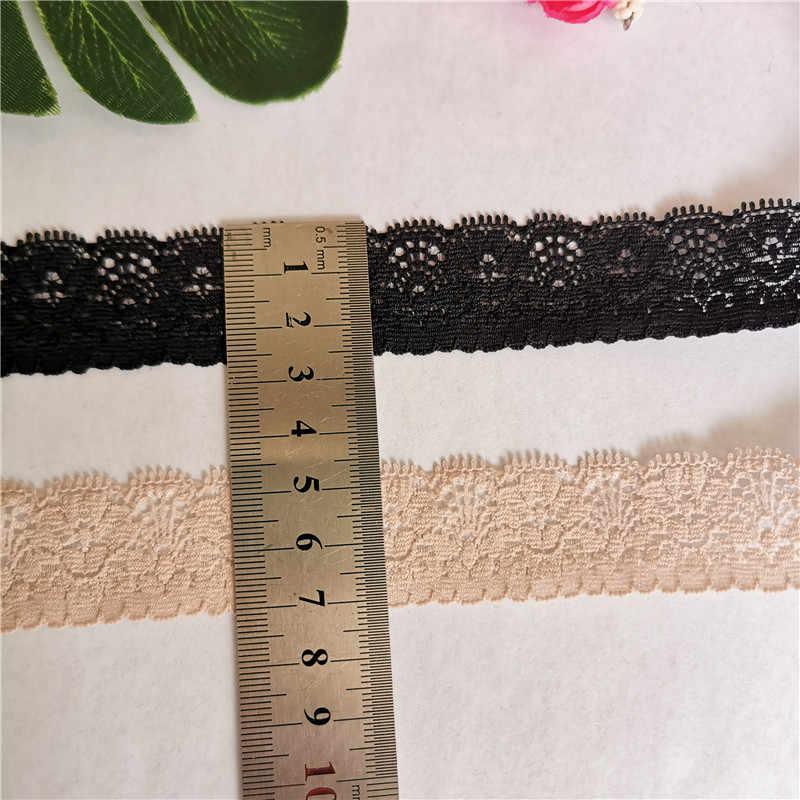 * 2.5cm S1989 באיכות גבוהה פרחוני אלסטי תחרה סרט תחרה סרט משמש כדי לקשט עבודות יד אפריקאי בדים אלסטיים