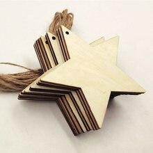 10 pçs de cinco pontas estrela pingente ano novo presentes 8cm corda de cânhamo decoração do jardim festa festiva suprimentos decoração da árvore de natal