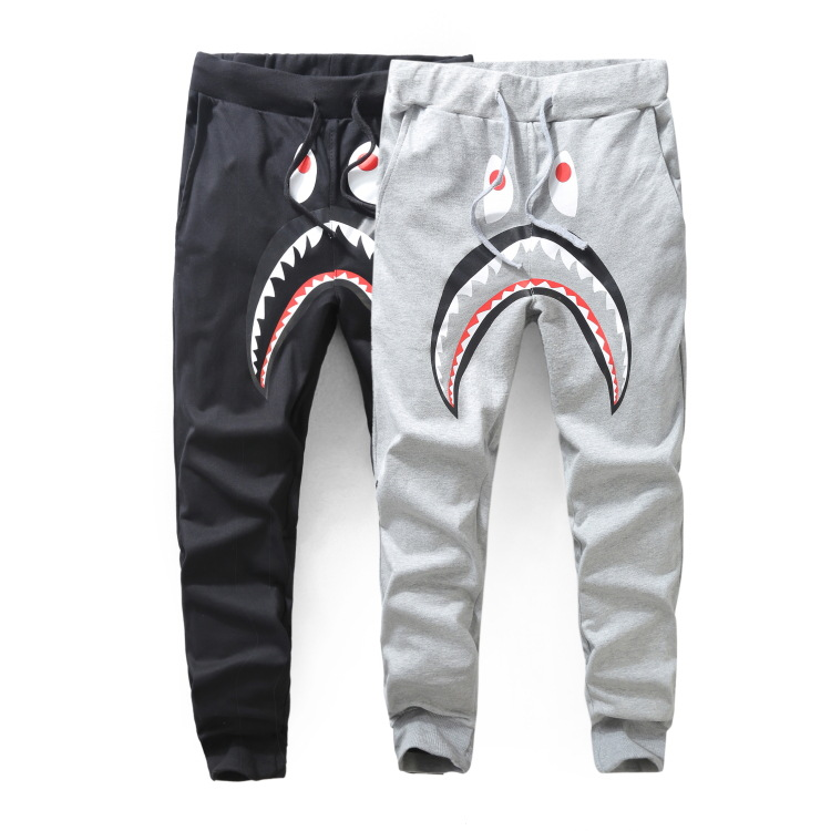 MEN'S WEAR Popular Brand MEN'S Casual Pants Shark Printed Thin Sweatpants Men And Women Skinny Sweatpants