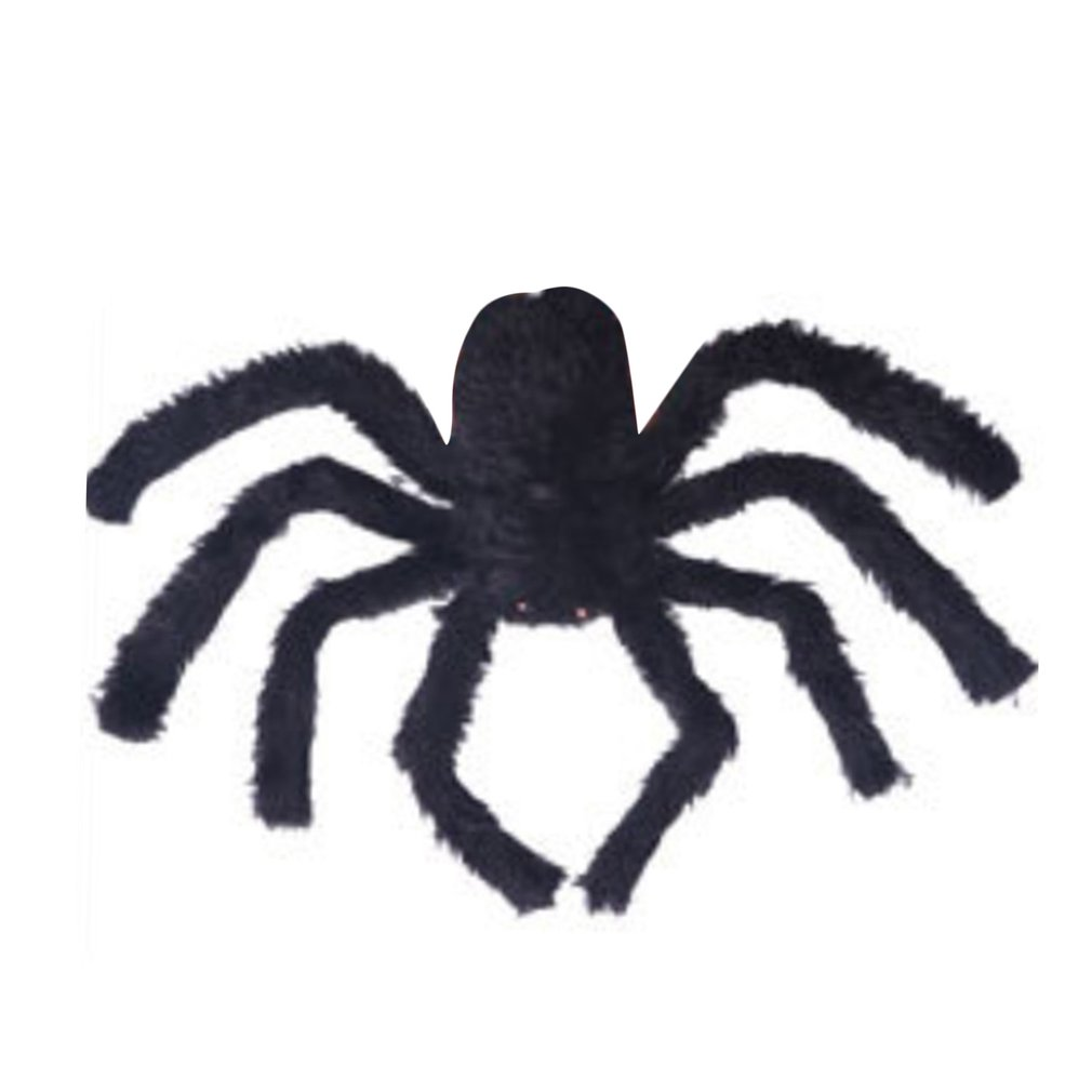 30/75/150cm Halloween Props Fake Large Spider For Haunted House Bars Decorative Supply Simulation Scary Plush Spiders Tricky Toy