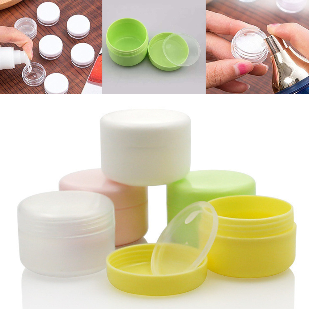 10g/20g/50g/100g Plastic Empty Travel Face Cream/Lotion/Cosmetic Container Makeup Jar Pot Refillable Bottles 5 Colors