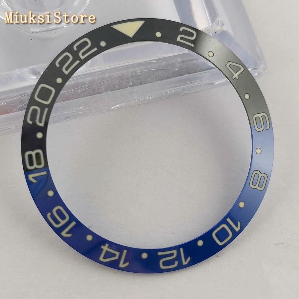 Relógio de Cerâmica Encaixa para 40mm Super Luminoso Moldura Anel Inserção se Gmt Relógios 40mm Assista Case 1 Pçs 38mm