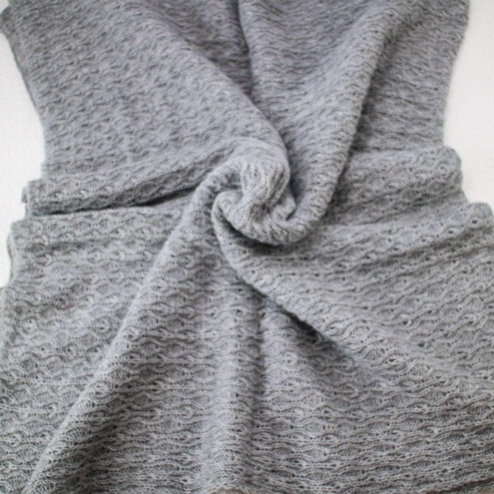 Don&Judy 100% Wool Blanket + Basket +150x100cm Backdrop + 140x30cm Wrap Set Newborn Blanket Background for Photo Shoot Prop