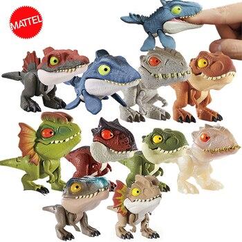 цены Original Jurassic World Minifingers Dinosaur Action Figure Movable Joint Simulation Model Toy for Children Halloween Figma Gift