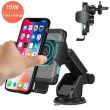 15W Tự Động Kẹp Không Dây Sạc Trên Ô Tô Cho iPhone Dành Cho Samsung Nhanh Ô Tô Không Dây Sạc Điện Thoại Sạc Nhanh