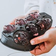 DIY инструмент виски вино коктейль кубик льда 3D Силиконовая форма льда кубик производитель Череп Форма для шоколада лоток мороженое плесень