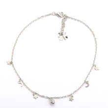 SANYU Fashion Moons Stars Beads 925 Sterling Silver Anklet(China)