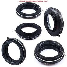Foleto 카메라 렌즈 어댑터 링 LM NEX m4/3 n1 fx leica m 렌즈 용 sony e 마운트 m4/3 n1 panasonic micro m4/3 fujifil fx xt3 x