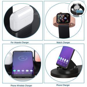 Image 4 - Fdgao 10 w qi rápido carregador sem fio 6 em 1 estação doca de carregamento para apple watch 5 4 3 airpods pro suporte para iphone 11 xs xr x 8