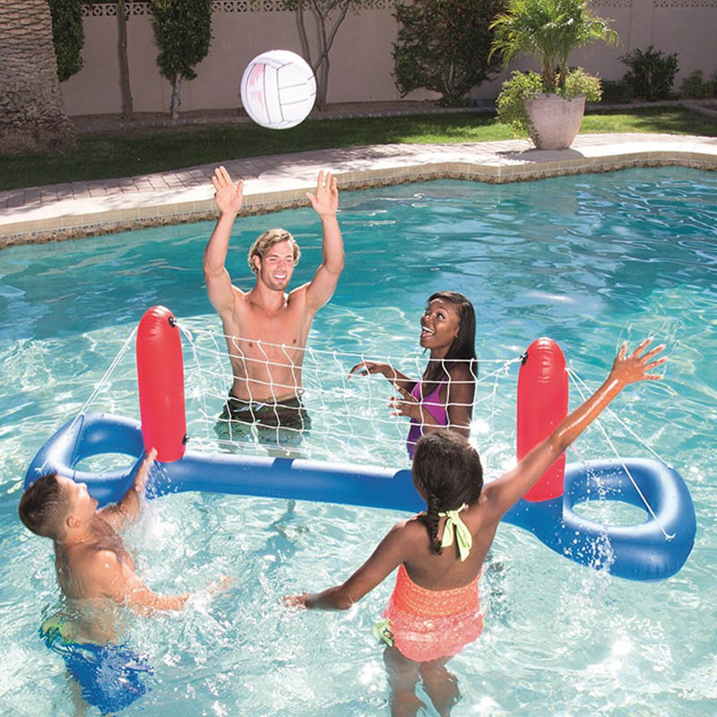 Inflatable Pool Float Toys For Adults Children Football Volleyball Basketball Games Circle Swimming Ring Water Mattress Party