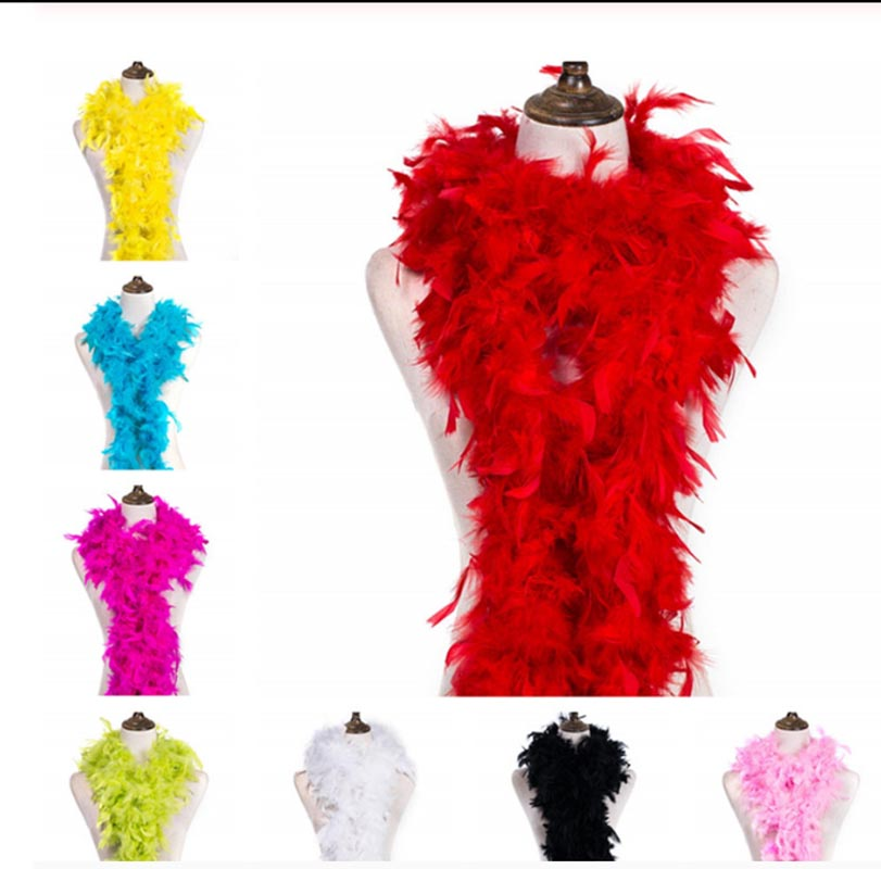 High Quality Turkey Feather Strip Feather Shower Belt Scarf Trailing Bouquet Packaging Stage Wedding Decoration Feather Belt