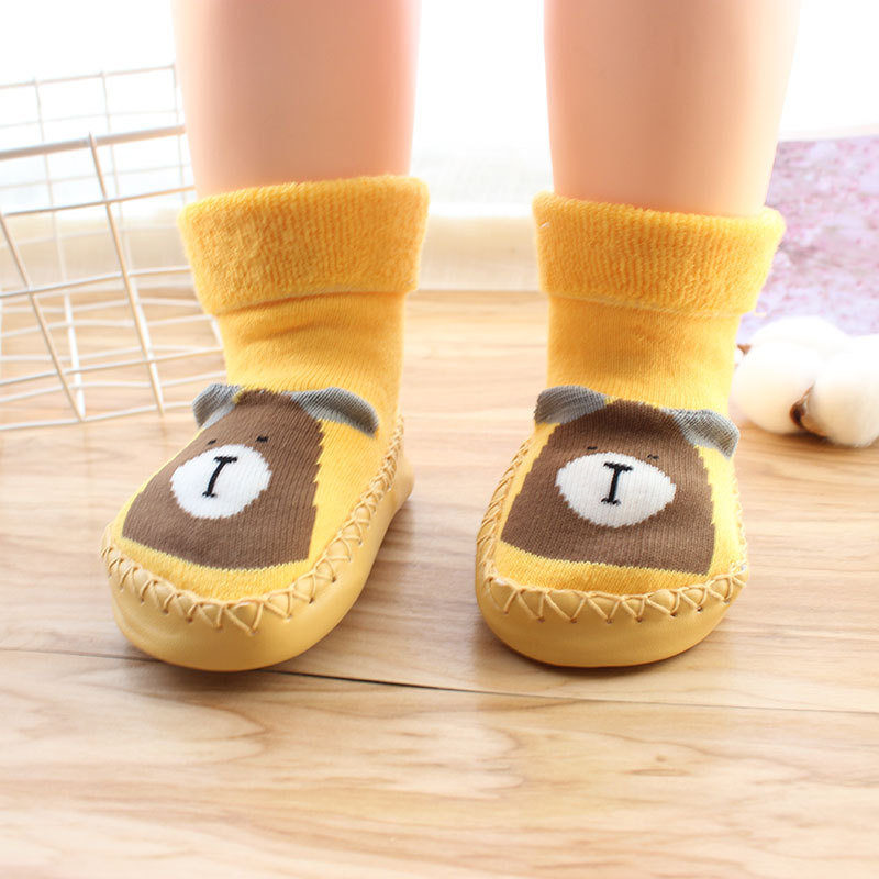 Cotton Soft Cartoon Baby Shoes Baby Toddler First Walkers Winter Baby Shoes Infant Floor Socks