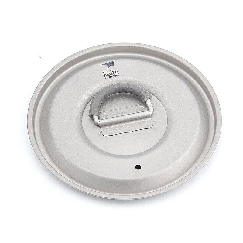 КИТ для похода и кемпинга Чайник Посуда для туризма на открытом воздухе пикника вода чай кофе горшок Портативный Сверхлегкий Титан колба пу... - 6