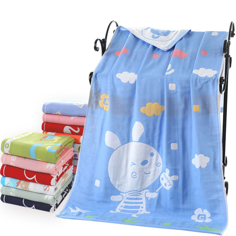 Three Layer Gauze BABY'S Bath Towel Towel Pure Cotton Cartoon Children Blanket Adult Tube Top Maternal And Child Supplies