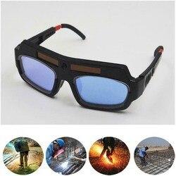 Zasilany energią słoneczną automatyczne przyciemnianie maska do spawania kask oczy spawacz podwójne okulary