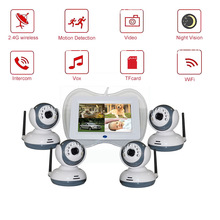 7 inch lcd baby monitor with motion detection night vision intercom movement sleeping monitor de baby support multi-camera TV babykam 3 2 inch lcd bebek kamera baby monitor ir night vision baby intercom lullabies temperature monitor baby camera monitor