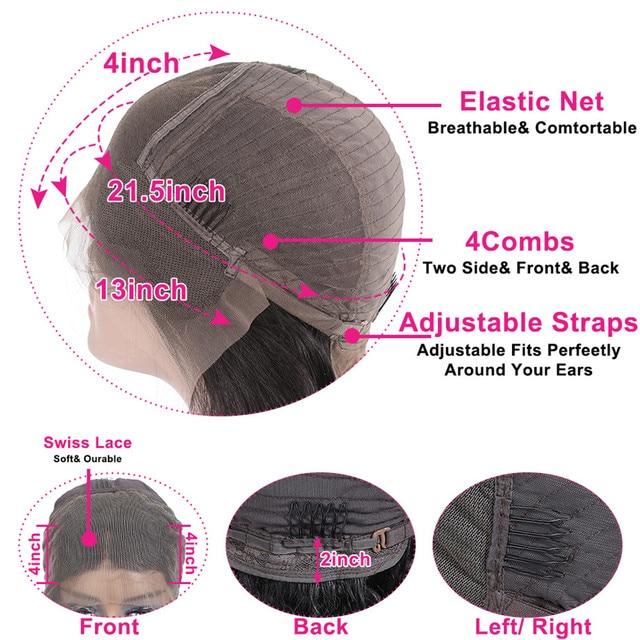 스트레이트 짧은 인간의 머리가 발 4x4 레이스 클로저 밥가 발 브라질 13x4 레이스 프런트 인간의 머리가 발 여성 레미에 대 한 저렴 한 도매