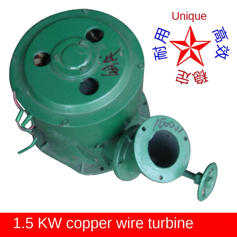 Permanent magnet AC 220V 1500W oblique strike hydroelectric home without water regulator miniature generator